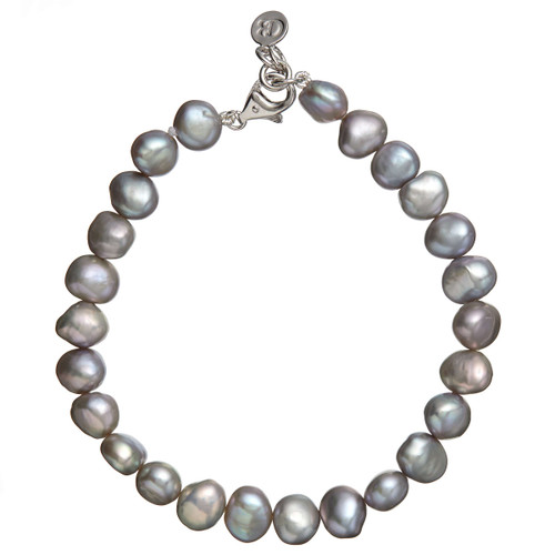 Claudia Bradby Silver Simple Pearl Bracelet