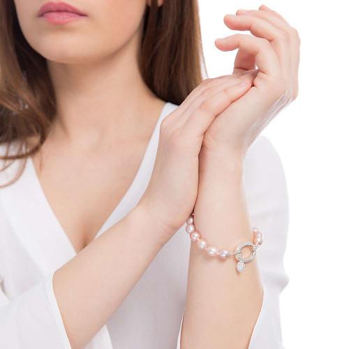 Claudia Bradby Pink Muse Rice Freshwater Pearl Bracelet