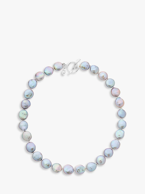 Claudia Bradby Grey Bedruthan Freshwater Coin Pearl Necklace