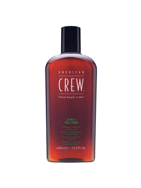 American Crew Conditioner & Body Wash and 3-In-1 Tea Tree Shampoo-450ml
