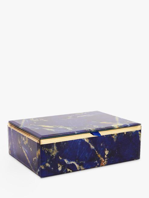 Lola Blue Rose Abstract Print Jewellery Box