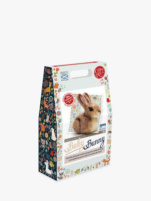The Crafty Kit Company Needle Felted Baby Bunny Craft Kit