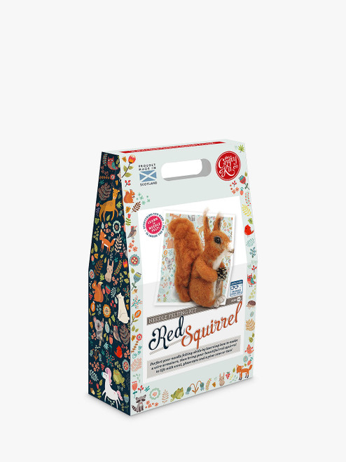 The Crafty Kit Company Needle Felted Squirrel Craft Kit