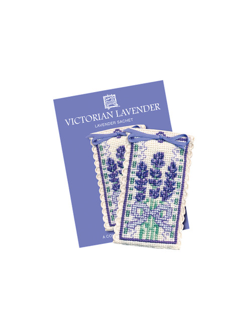Textile Heritage Multi Victorian Lavender Sachet Counted Cross Stitch Kit