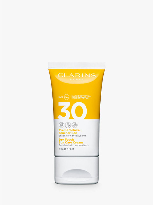 Clarins SPF 30 Dry Touch Sun Care Cream for Face-50ml