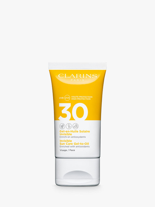 Clarins SPF 30 Invisible Sun Care Gel-To-Oil for Face-50ml