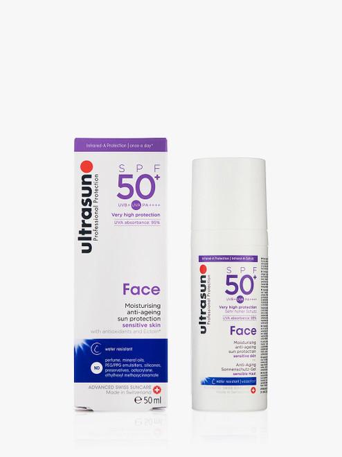 Ultrasun SPF 50+ Ultra Sensitive Facial  Anti-Ageing Sun Cream-50ml