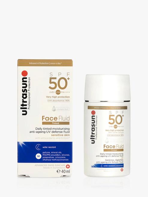 Ultrasun Face Fluid Tinted Moisturiser Tinted HoneySPF 50+ Sensitive Skin
