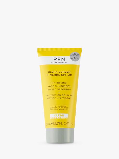 REN SPF 30 Clean Skincare Clean Screen Mineral Sun Cream-50ml