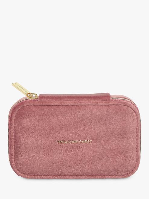 Estella Bartlett Pink Velvet Mini Jewellery Box