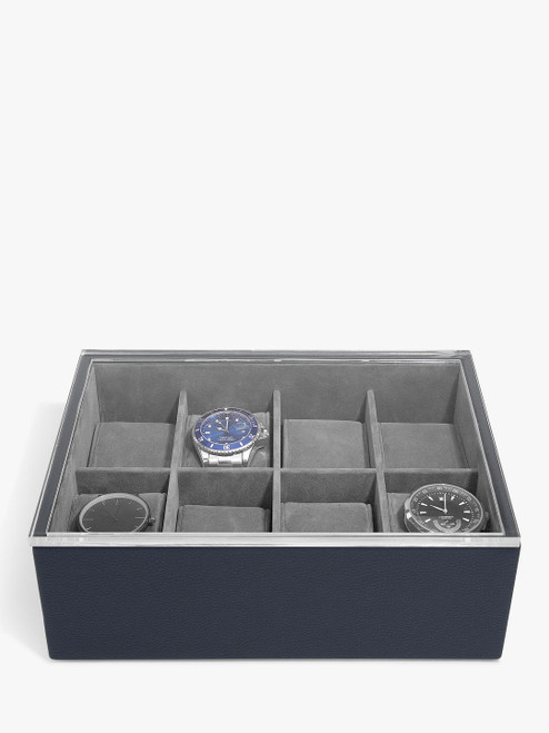 Stackers Navy 8 Piece Watch Box