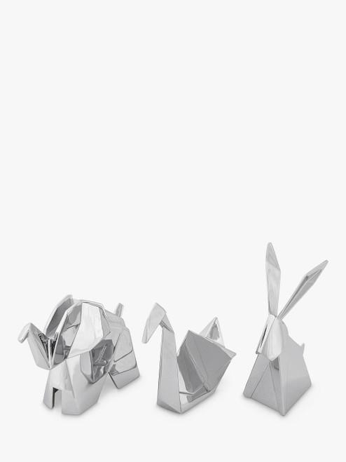 Umbra Origami Chrome Ring Holders Set of 3