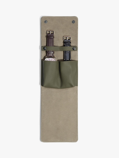 Stackers Olive Travel Watch Wrap