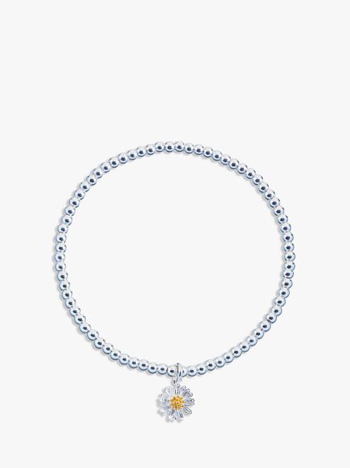 Estella Bartlett Silver Sienna Flower Charm Stretch Bracelet