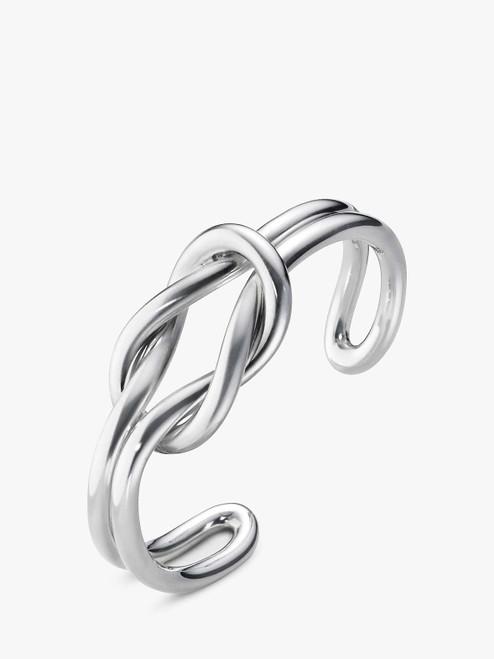Georg Jensen Silver Medium Love Knot Double Bangle
