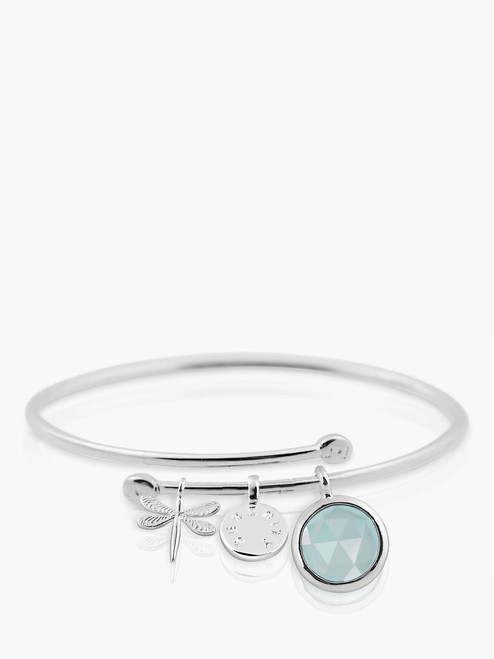 Joma Jewellery Silver Sterling Silver Plated Crystal Story Serenity Bangle