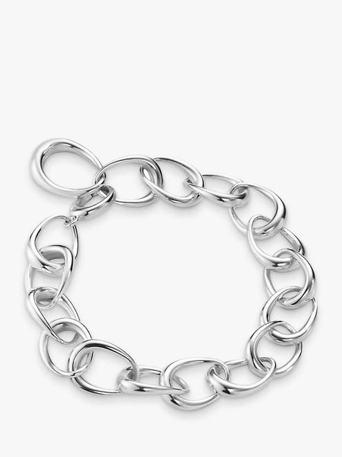 Georg Jensen Silver Offspring Oval Link Bracelet