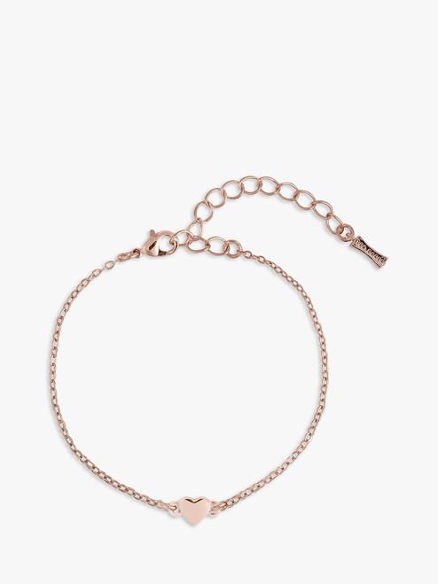 Ted Baker Rose Gold Heart Chain Bracelet