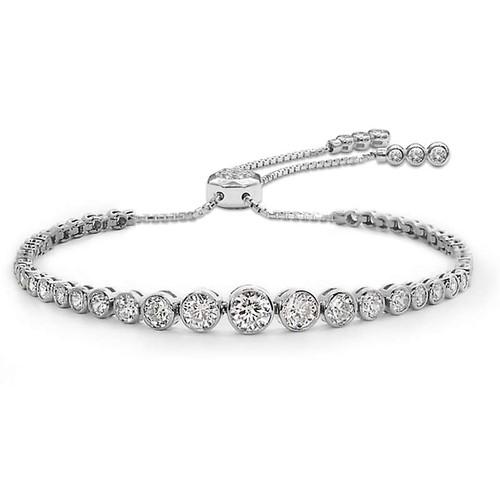 CARAT* London Silver Quentin Slider Bracelet