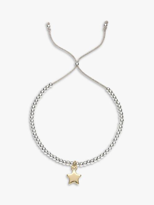 Estella Bartlett Silver/Gold Liberty Beaded Star Bracelet