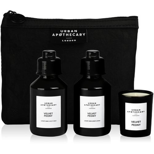Urban Apothecary Gift Set 3 Pieces Velvet Peony Luxury Bath and Fragrance