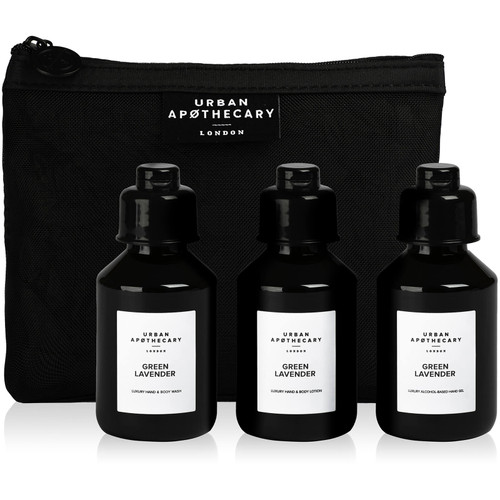 Urban Apothecary Gift Set 3 Pieces Green Lavender Luxury Bath and Body