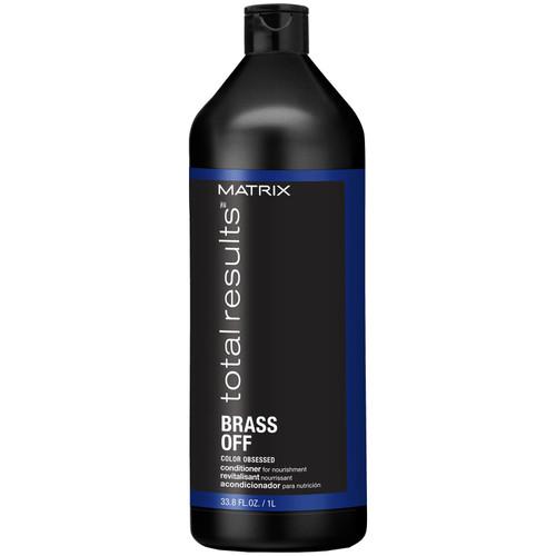 Matrix for Lightened Brunette Hair Total Results Brass Off Brunette Blue Conditioner-1000ml