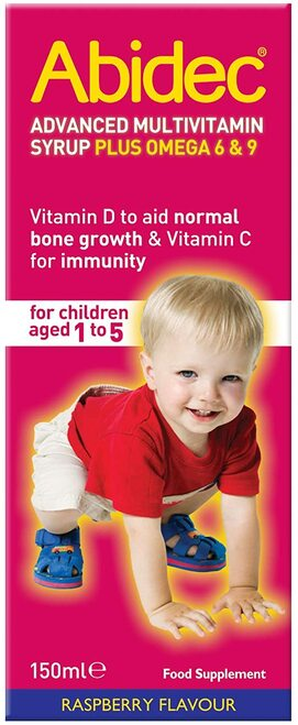 Abidec Kid Multivitamin Syrup for Growth of Bones in Children - 150 ml