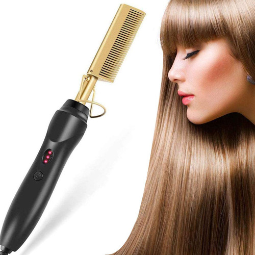 2in1 Electric Hot Comb Hair Straightener for Afro Hair