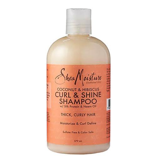 Shea Moisture Coconut & Hibiscus Curl & Shine Shampoo-379ml