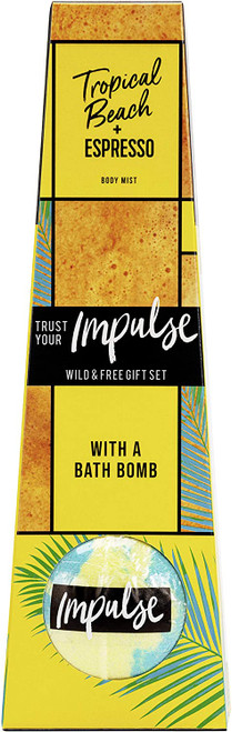 Tropical Beach Bath Bomb Body Mist with Long Lasting Fresh Fragrance