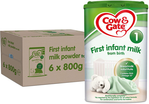 Cow & Gate Infant Milk Powder For 0 to 12 Months Baby Milk - Pack of 6