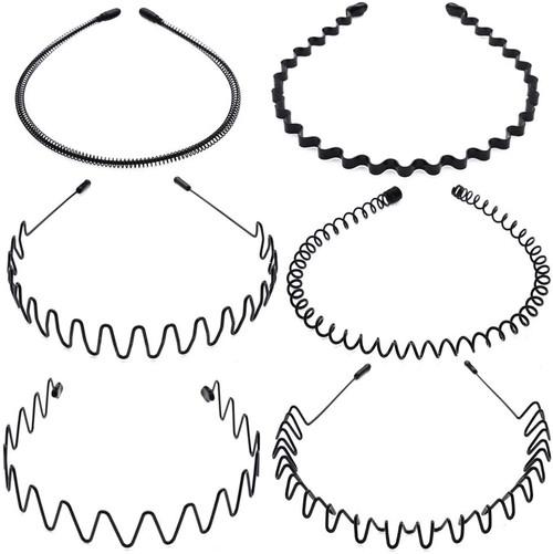 AIM Cloudbed 6 Metal Flexible Hair Hoop Bands in Black