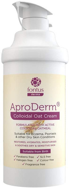 Aproderm Colloidal Oat Cream pump With Active Oat Meal Suitable for Eczema