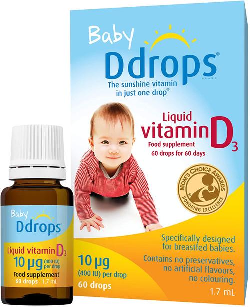 Baby Ddrops Vitamin D3 Food Supplement