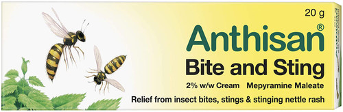 Anthisan Bite and Sting Cream Provide Relief from insect bites - 20g