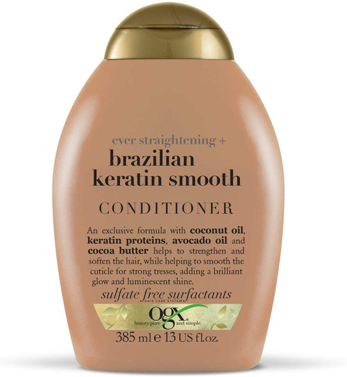 OGX Brazilian Keratin Super SmoothinG Conditioner for Dry Hair - 385 ml