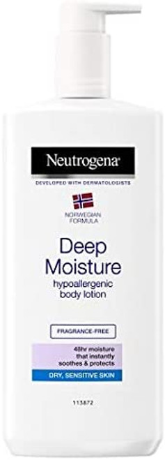Neutrogena Deep Moisture Body Lotion for Dry and Sensitive Skin - 400ml