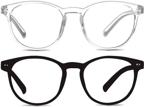 Round Light Blocking Glasses With HD Anti Glare Vision