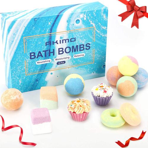 AKIMO 9 Natural Handmade Bath Bombs Set
