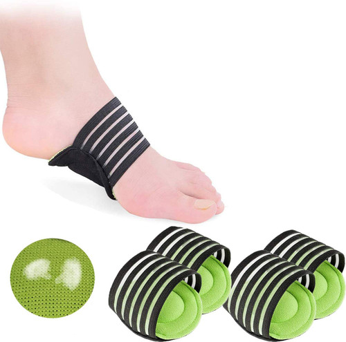 2 Pairs Extra Thick Cushioned Compression Arch Support for Achy Feet Problems