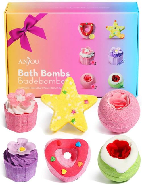 Anjou Handmade Aroma Bubble Bath Bombs Gift Set