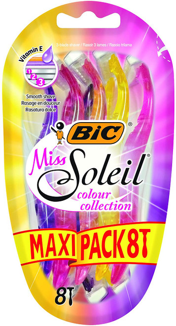 Bic Miss Soleil Coloured Lady Razors With Triple Blade