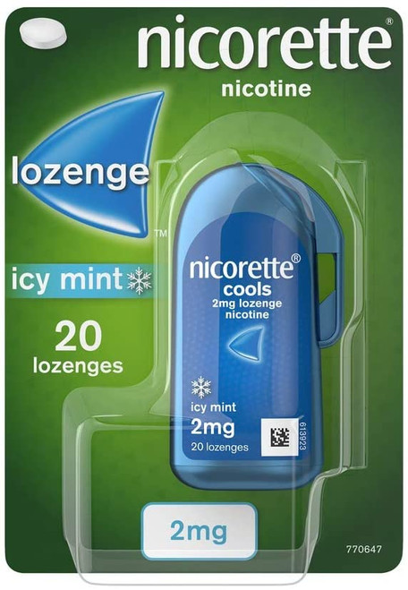 Stop Smoking Nicorette Icy Mint Lozenges