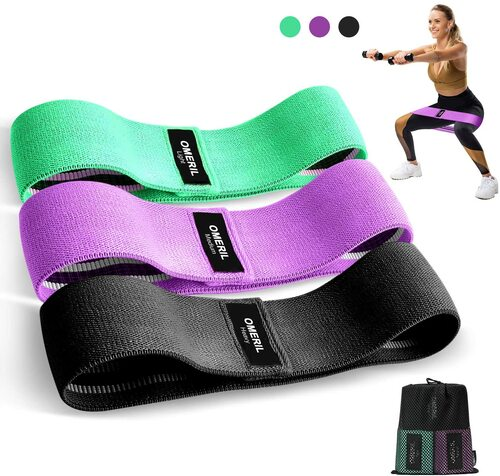 Non-Slip Exercise Loop Bands for Hips and Glutes 3 SYOSIN Resistance Bands