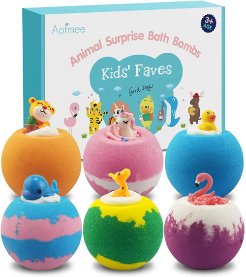 Aofmee Bath Bombs Gift Set for Kids