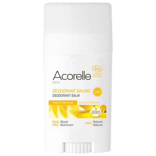 Acorelle Organic Ylang and Palmarosa Deodorant Balm-40g