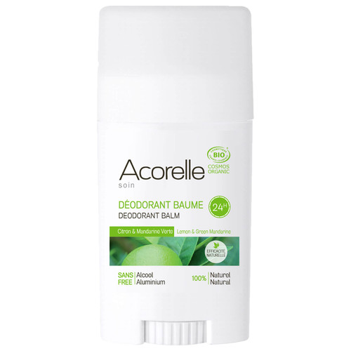 Acorelle Organic Lemon and Green Mandarine Deodorant Balm-40g