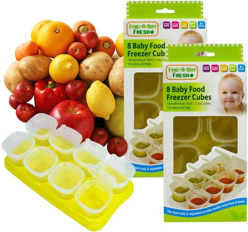 Hoolaroo Baby Freezer Cube 2 Trays With Lids