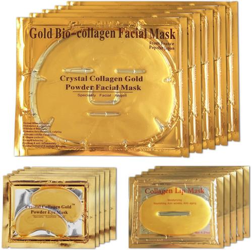 24K Gold Bio Collagen Crystal Face Mask